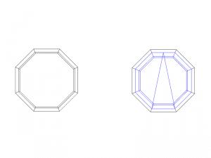 forme octogone pour fenêtre 1 ouvrant ocillo battant
