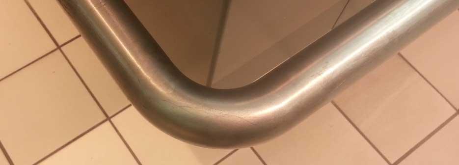 barre inox cintrée