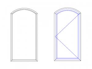 cintrage porte ou fenêtre avec glable surbaissé