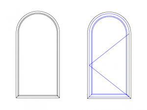fenêtre ou porte en plein cintre