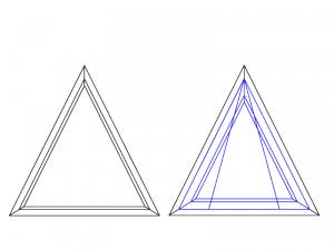 fenêtre en triangle houteau ocillo battant