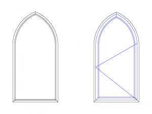 cintrage de fenêtre en forme d'ogive