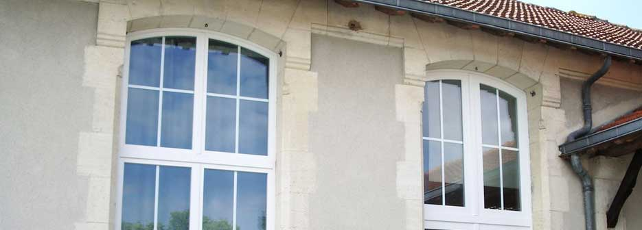 rénovation fenêtre galbée