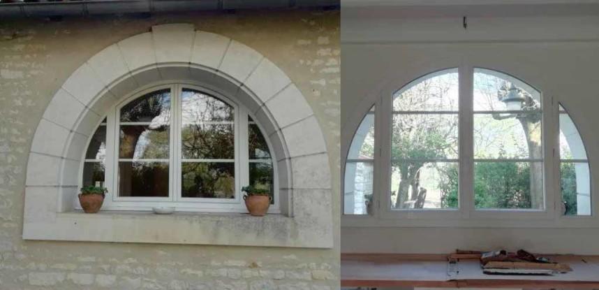 Fenêtre de maison Charentaise et Catalogne